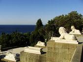 Lion terrace, Vorontsov palace, Alupka, Crimea — Stock Photo