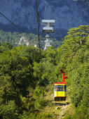 Cable car to Ai-Petri summit, Crimea peninsula, Ukraine — Stock fotografie