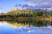 Molas lake and Needle mountains, Weminuche wilderness, Colorado — Stock Photo