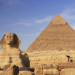 The Sphinx and Pyramid of Khafre, Cairo, Egypt — Stock Photo #29759735