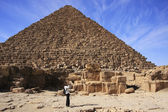 Pyramid of Menkaure, Cairo — Stock Photo