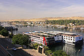 Boats on the Nile river, Aswan — Stock Photo