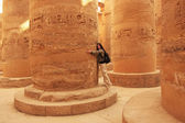 Great Hypostyle Hall, Karnak temple complex, Luxor — Stock Photo