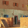 Old brick building on Banana island, Luxor — Stock Photo