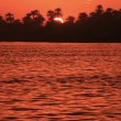 Sunset over the Nile river, Luxor — ストック写真
