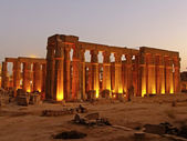 Luxor temple at night, Luxor, Egypt — Stock Photo