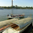 Boats on the Nile river, Cairo — Stock Photo #32932011