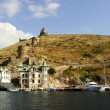 Genoese fortress Cembalo and Balaklavtown, Crimea — Stock Photo #33094457