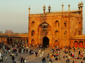 Courtyard of Jama Masjid, Delhi — Stock Photo