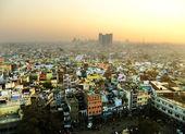 View of Delhi from Jama Masjid — Stock Photo
