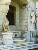 Statues of Chimera and Satyr, Masandra Palace, Crimea peninsula — Stock Photo