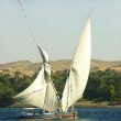 Felucca boats sailing on the Nile river — Stock Photo #34905259
