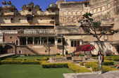 Courtyard garden, Bundi Palace, India — Stockfoto