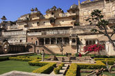Courtyard garden, Bundi Palace, India — Стоковое фото