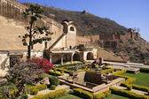 Courtyard garden, Bundi Palace, India — Stock fotografie