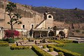 Courtyard garden, Bundi Palace, India — ストック写真