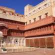 Stock Photo: Main courtyard of Junagarh fort, Bikaner, India