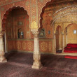 Stock Photo: Private Audience Hall, Junagarh fort, Bikaner, India
