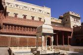Main courtyard of Junagarh fort, Bikaner, India — Stock Photo