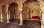 Private Audience Hall, Junagarh fort, Bikaner, India — Stock Photo