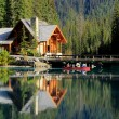 Stock Photo: Wooden house at Emerald Lake, Yoho National Park, Canada