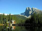 山伯吉斯和翡翠湖、 优鹤国家公园、 加拿大 — 图库照片