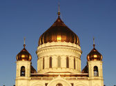 Cathedral of Christ the Saviour in early morning, Moscow, Russia — Stock Photo