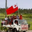 People celebrate arriving Fuifui Moimoi on Vavau island, Tonga — Stock Photo #39284037