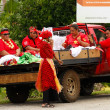 People celebrate arriving Fuifui Moimoi on Vavau island, Tonga — Stock Photo #39284191