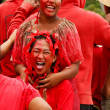 People celebrate arriving Fuifui Moimoi on Vavau island, Tonga — Stock Photo #39286341