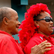 People celebrate arriving Fuifui Moimoi on Vavau island, Tonga — Stock Photo #39286513