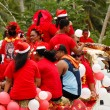 People celebrate arriving Fuifui Moimoi on Vavau island, Tonga — Stock Photo #39286613