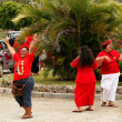 People celebrate arriving Fuifui Moimoi on Vavau island, Tonga — Stock Photo #39287083