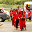 People celebrate arriving Fuifui Moimoi on Vavau island, Tonga — Stock Photo #39287263