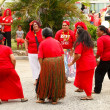 People celebrate arriving Fuifui Moimoi on Vavau island, Tonga — Stock Photo #39287283