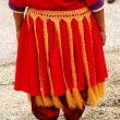 Detail of traditional tongan skirt, Vavau island, Tonga — Stock Photo