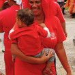 People celebrate arriving Fuifui Moimoi on Vavau island, Tonga — Stock Photo #39287553