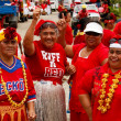 People celebrate arriving Fuifui Moimoi on Vavau island, Tonga — Stock Photo #39291239