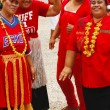 People celebrate arriving Fuifui Moimoi on Vavau island, Tonga — Stock Photo #39291547