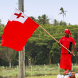 Tongan man celebrate arriving Fuifui Moimoi on Vavau island, Ton — Stock Photo #39291583