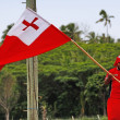Tongan man celebrate arriving Fuifui Moimoi on Vavau island, Ton — Stock Photo #39291631