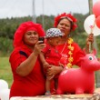 People celebrate arriving Fuifui Moimoi on Vavau island, Tonga — Stock Photo #39292887