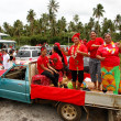 People celebrate arriving Fuifui Moimoi on Vavau island, Tonga — Stock Photo #39293171