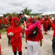 People celebrate arriving Fuifui Moimoi on Vavau island, Tonga — Stock Photo #39293173