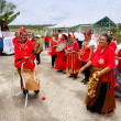 People celebrate arriving Fuifui Moimoi on Vavau island, Tonga — Stock Photo #39293511