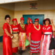 People celebrate arriving Fuifui Moimoi on Vavau island, Tonga — Stock Photo #39293923