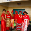 People celebrate arriving Fuifui Moimoi on Vavau island, Tonga — Stock Photo #39294045