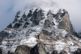 Mount Huber with clouds, Yoho National Park, Canada — Stock Photo