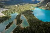 Mary Lake and Lake O'Hara, Yoho National Park, Canada — Zdjęcie stockowe