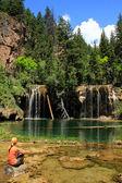 Opknoping lake, glenwood canyon, colorado — Stockfoto